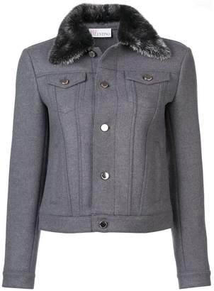 RED Valentino faux fur collar jacket