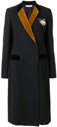 Christopher Kane contrast lapel tailored coat