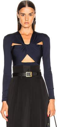 Givenchy Cutout Bodysuit in Black & Blue | FWRD