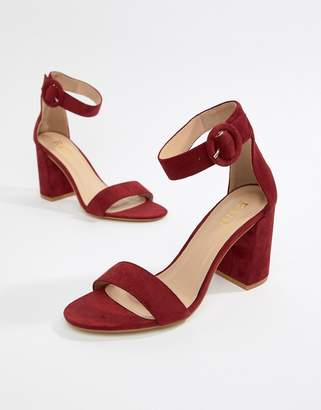 Raid RAID Genna burgundy block heeled sandals