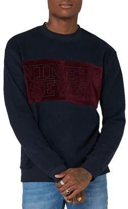 Topman Ninety Seven Velour Sweatshirt