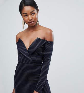 Missguided Bardot Tux Mini Dress