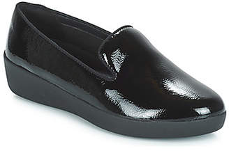 FitFlop AUDREY SMOKING SLIPPERS CRINKLE PATENT