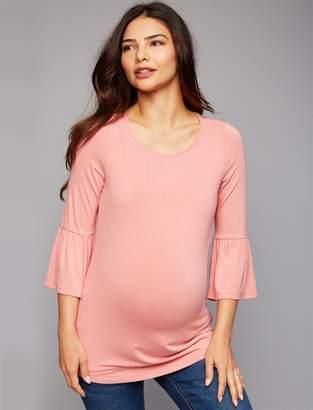 A Pea in the Pod Daniel Rainn Bell Sleeve Button Detail Maternity Top