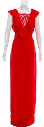 Rachel Zoe Lace-Accented Maxi Dress