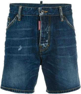 DSQUARED2 stonewash effect denim shorts