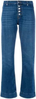 ALEXACHUNG Alexa Chung flare button jeans