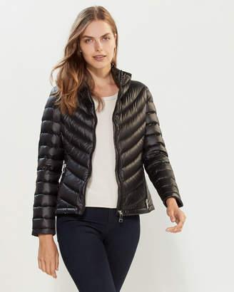 Calvin Klein Hooded Chevron Packable Down Jacket