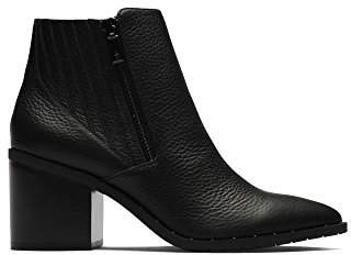 Kenneth Cole Reaction Women's Cue up Block Heel Pointed Toe Bootie Ankle Boot