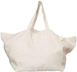 The Beach People Linen Tote Bag Natural