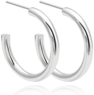 Astrid & Miyu - Basic Large Hoop Earrings In Silver
