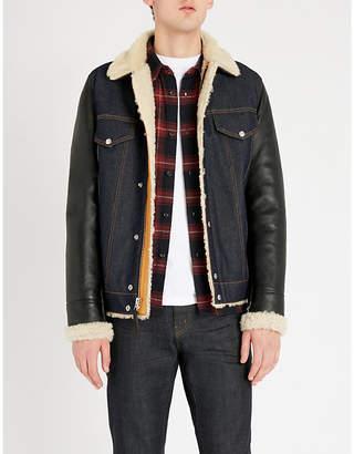 Schott Western denim and sheepskin jacket