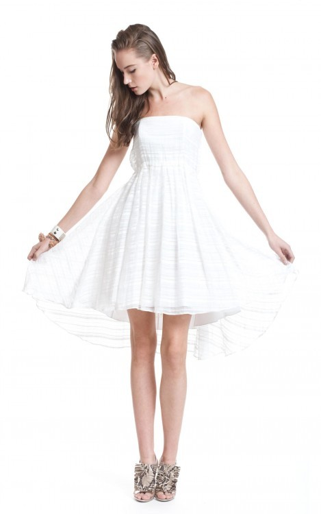 Tracy Reese High Low Strapless