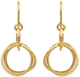 14K Small Twisted Circle Shepherd Hook Earrings
