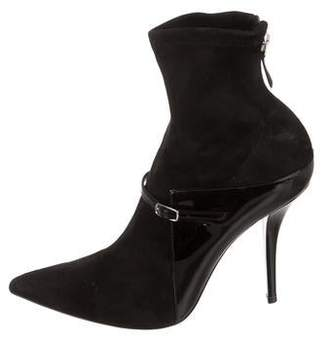 Givenchy Suede Pointed-Toe Booties