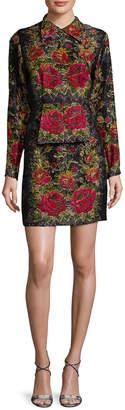 Anna Sui Floral Brocade Dress