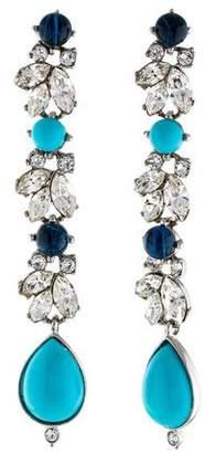 Ben-Amun Crystal & Resin Drop Earrings