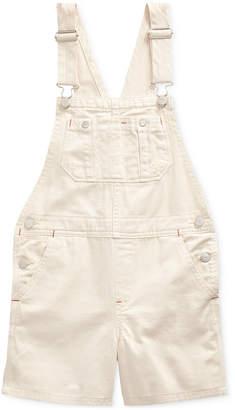 Polo Ralph Lauren Big Girls Floral-Print Denim Cotton Overalls