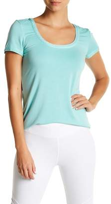Trina Turk Cutout Back Short Sleeve Tee