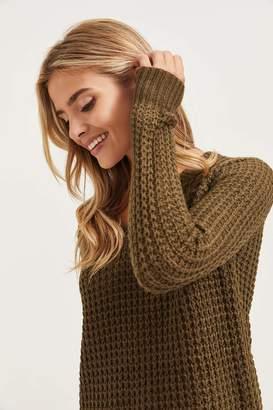 Ardene Long Knit V-Neck Sweater