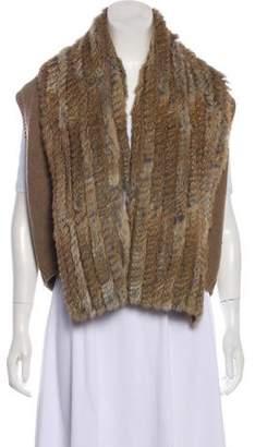 Marc by Marc Jacobs Fur-Trimmed Wool Vest