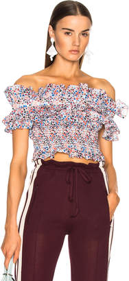Philosophy di Lorenzo Serafini Off Shoulder Crop Top