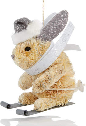 Holiday Lane White Bunny with Party Hat Ornament, Created for Macy's