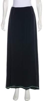 Maison Margiela Silk Maxi Skirt Black Silk Maxi Skirt