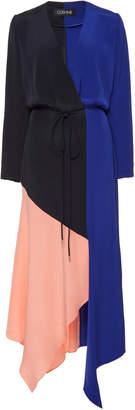 Cushnie Colorblock Silk Dress