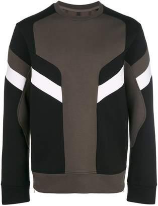 Neil Barrett Modernist colour block sweatshirt