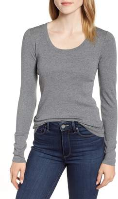 Caslon 'Melody' Long Sleeve Scoop Neck Tee