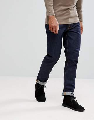 Nudie Jeans Fearless Freddie loose tapered fit jeans in dry ring wash