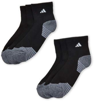 adidas 6-Pack Ministripe Quarter-Cut Socks