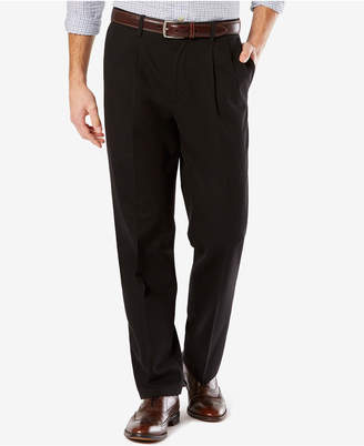 Dockers Stretch Classic Pleated Fit Signature Khaki Pants D3
