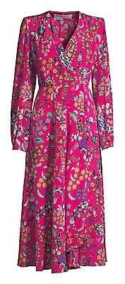 Etro Women's Floral V-Neck Silk Dress