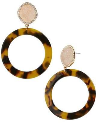BaubleBar Devinne Acetate Loop Drop Earrings
