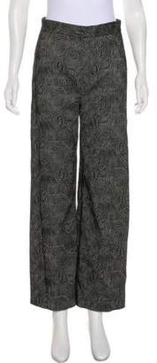Lela Rose Wide-Leg High-Waist Pants