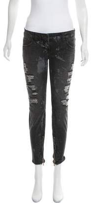 Balmain Low-Rise Distressed Jeans
