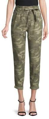 Miss Selfridge Cropped Camo Trousers