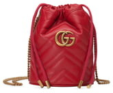 ffcda15686c85f Gucci Mini GG Marmont 2.0 Quilted Leather Bucket Bag