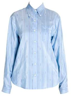 Prada Silk Pongee Stripe Blouse