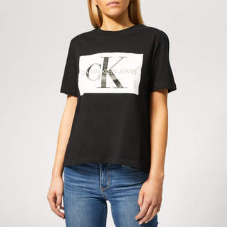 Calvin Klein Jeans Women's Iconic Monogram Box Straight T-Shirt