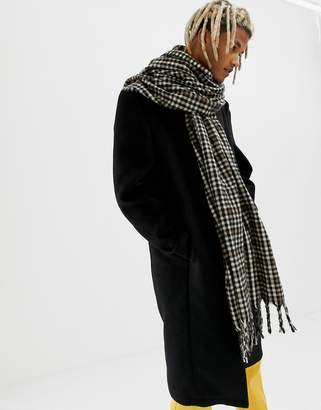 Asos Design DESIGN blanket scarf in brown check