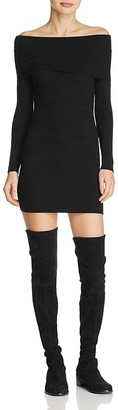 Olivaceous Off-the-Shoulder Sweater Dress $78 thestylecure.com
