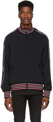 Dolce & Gabbana Black Zip-Up Track Jacket