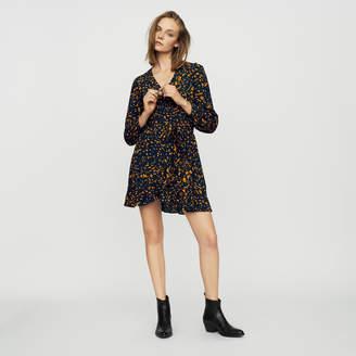 Maje Leopard wrap dress