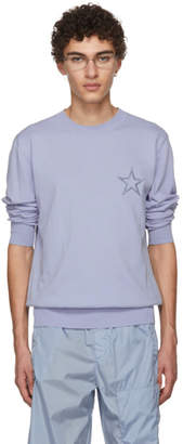 Givenchy Blue Embroidered Star Sweater