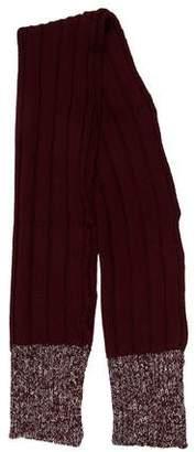 Missoni Rib Knit Wool Scarf