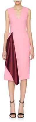 Alexander McQueen V-Neck Drape Pencil Dress