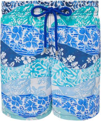 Vilebrequin Moorea Tropical Print Swim Trunks
